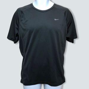 Nike Mens Miler Running Shirt Short Sleeve Black